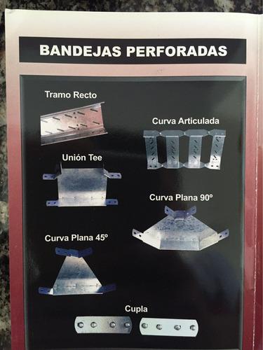 bandejas portacables perforadas galvanizadas 100mm x 3mts
