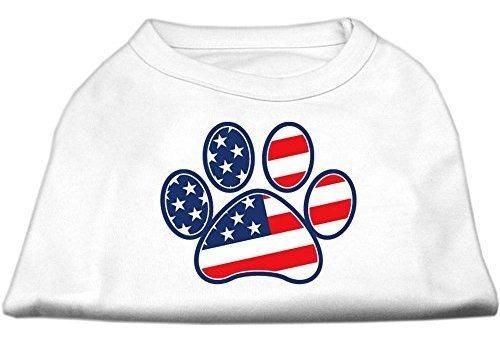 bandera americana tank parte superior  color blanco de huell
