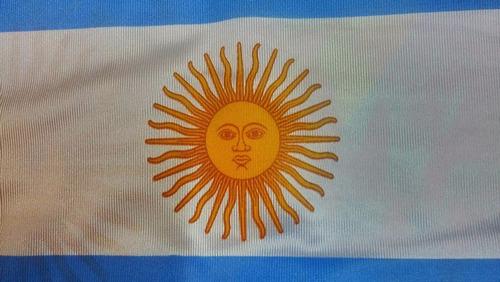 bandera argentina 90 x 144cm medida oficial refuerzo y sogas