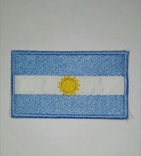 bandera argentina bordada