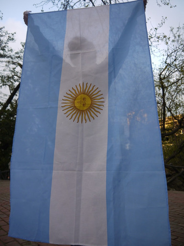bandera argentina con sol 150 x 090 exelente calidad