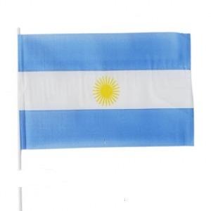 bandera argentina de plástico 15 x 25 cm con palito