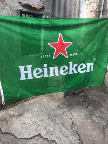 bandera cerveza heineken 1,55 mt x 1 mt