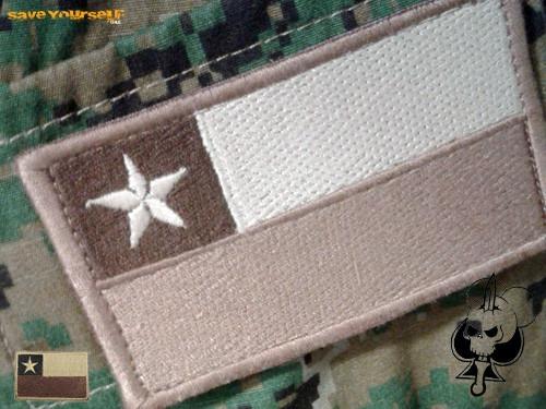 bandera chilena bordada coyote brown