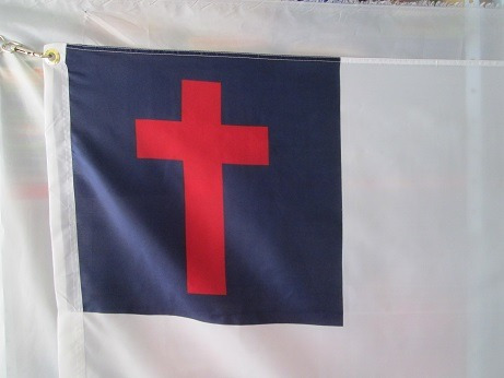 bandera cristiana (tamaño 90x150cms) doble faz