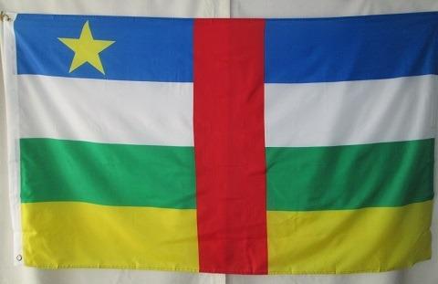 bandera de african central rep. (tamaño 90x150cms) doble faz