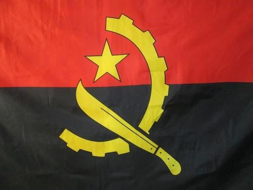 bandera de angola (tamaño 90x150cm)doble faz polyester