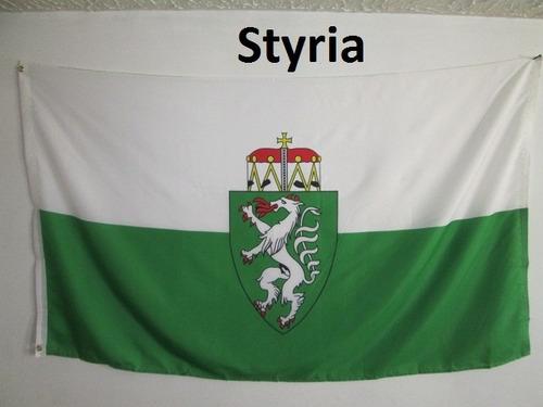 bandera de austria estiria (tamaño 90x150cm) doble faz poly