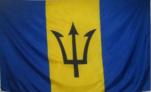 bandera de barbados (tamaño 90x150cm) doble faz polyester