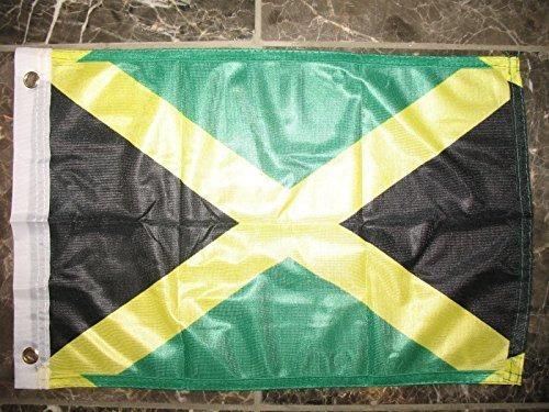 bandera de barco de jamaica, 12 x 18 cm, de punto, de jamaic