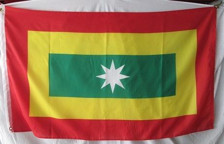 bandera de barranquilla (tamaño 90x150cms) doble faz poly