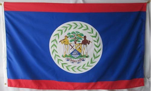 bandera de belice (tamaño 90x150cm)doble faz 100%polyester