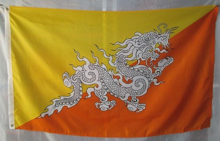 bandera de butan(tamaño 90x150cms) material polyester
