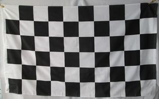 bandera de carreras (tamaño 90x150cms) doble faz polyester