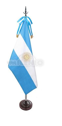 bandera de ceremonia argentina c/1 sol bordado