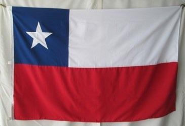bandera de chile ( tamaño 100x150cm)material nylon doble faz