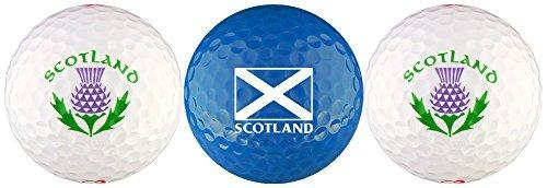 bandera de escocia con conjunto de regalo de la pelota de go