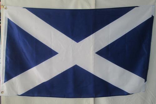 bandera de escocia (tamaño 90x150cms) doble faz polyester