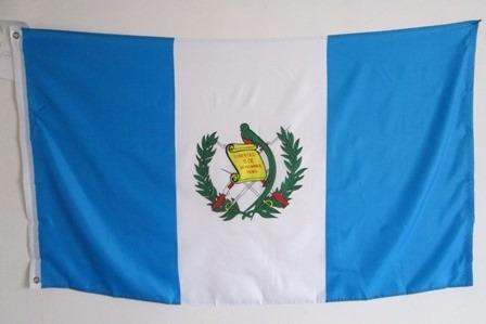 bandera de guatemala (tamaño 90x150cm) doble faz polyester