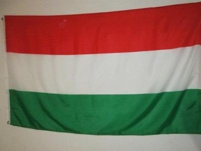 bandera de hungria (tamaño 90x150cm) polyester doble faz