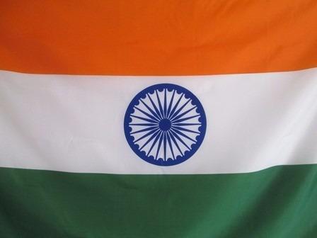 bandera de india (tamaño 90x150cm) doble faz 100% polyester