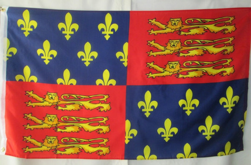 bandera de king edward (tamaño 90x150cms) doble fazpolyester