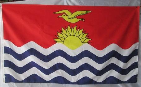 bandera de kiribati (tamaño 90x150 cm) doble faz polyester
