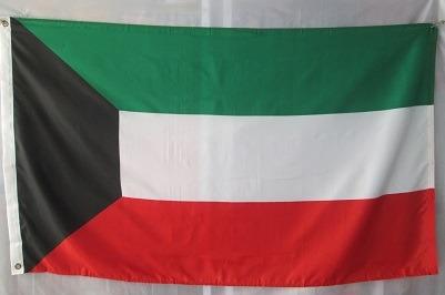 bandera de kuwait (tamaño 90x150cm)doble faz polyester