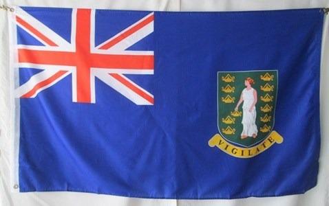 bandera de las islas vírgenes británicas ( tamaño 90x150cm)