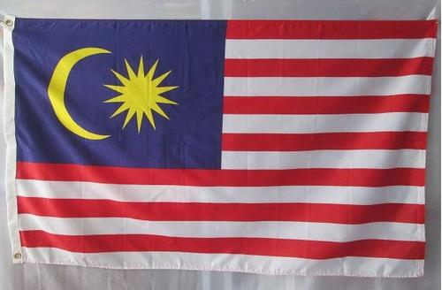bandera de malasya (tamaño 90x150cm) doble faz 100%polyester
