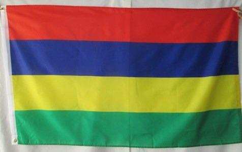 bandera de mauritius (tamaño 90x150cms) doble faz polyester