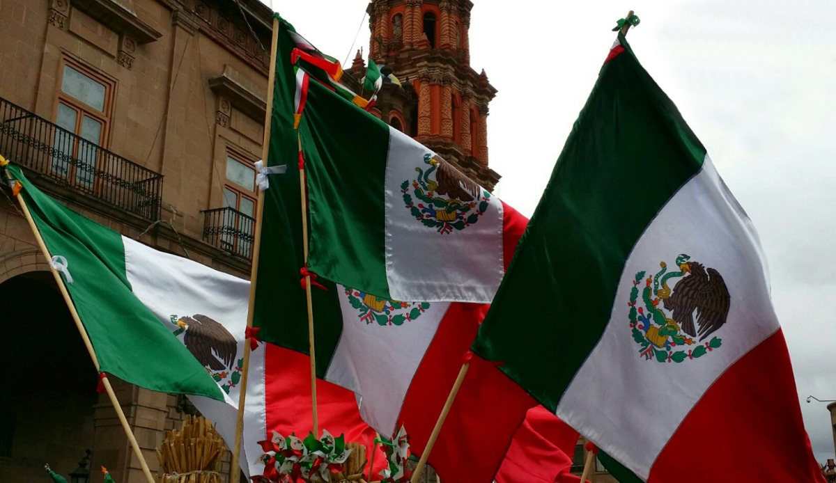 Bandera De Mexico 100x60cm Mundial Fiestas Patrias