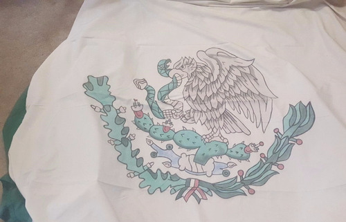 bandera de mexico 15 de sep gigante ancho 4.5 metros parchad