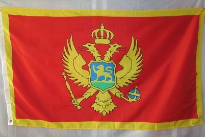 bandera de montenegro (tamaño 150x90cm)doble faz polyester