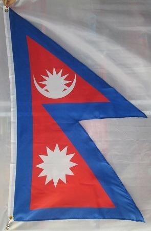 bandera de nepal (tamaño 90cmsx150cm)doble faz polyester