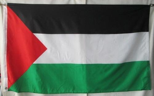bandera de palestina (tamaño 90x150cm) doble faz 100% polyes