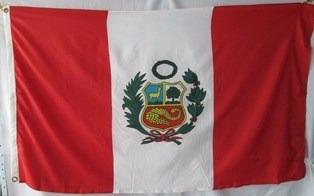 bandera de peru (tamaño 90x150cms) doble faz