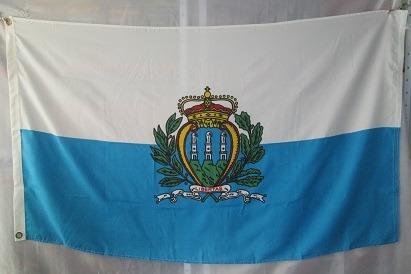 bandera de san marino (tamaño 90x150cm)doble faz polyester