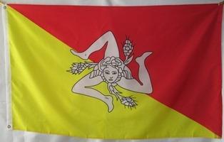 bandera de sicilia italia (tamaño 90x150cm)doble faz poly