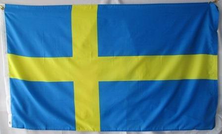 bandera de suecia (tamaño 90x150cms) material polyester