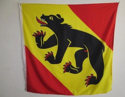 bandera de suiza bern (tamaño 120x120cm) doble faz