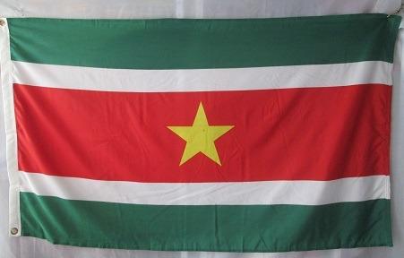 bandera de surinan (tamaño 90x150cm) doble faz polyester