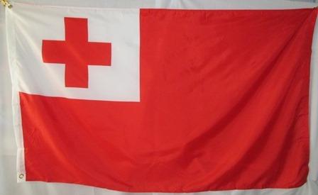 bandera de tonga (tamaño 90x150cms) doble faz