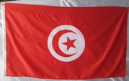 bandera de tunisia (tamaño 90x150cms) doble faz