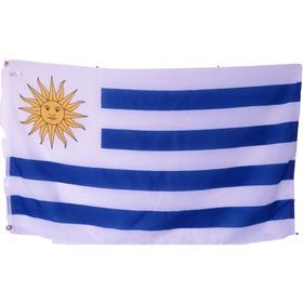 Bandera De Uruguay (tamaño 90x150cms) Doble Faz Polyester