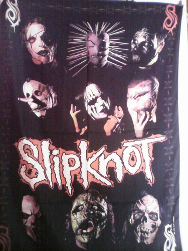 bandera  poster cuadro exclusivo rock slipknot