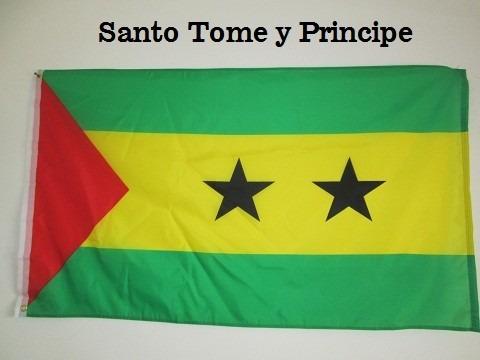 Bandera Santo Tome Y Principe Tamano 90x150cms Doble Faz
