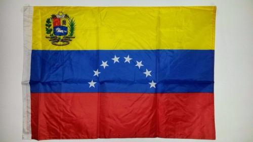 bandera tricolor venezuela escudo 90x60cm oferta