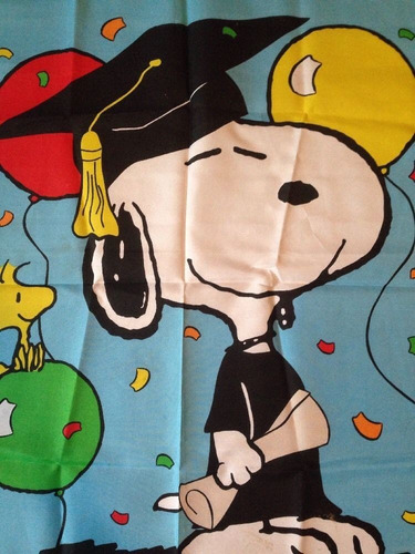bandera vintage snoopy graduado graduacion rarapeanuts djgsv