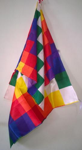 bandera wiphala pueblos originarios 1,50x1,50mts aprox